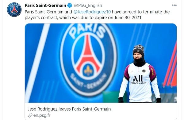 PSG與謝斯提早解約