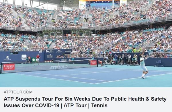 錢惠民:ATP停辦6星期比賽