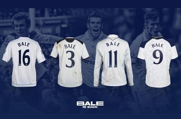 巴爾回歸熱刺將穿上9號球衣。