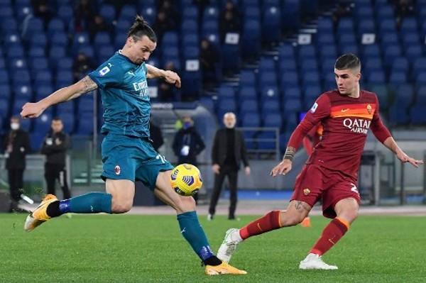 據報AC米蘭前鋒伊巴謙莫域將會缺陣倒戈曼聯的歐霸盃16強賽事。