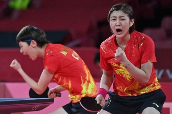 中國壓日本贏女團乒球金牌