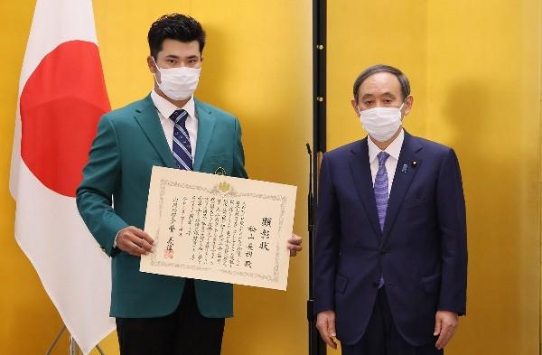 松山英樹獲首相表彰 豪言為日奧運奪金